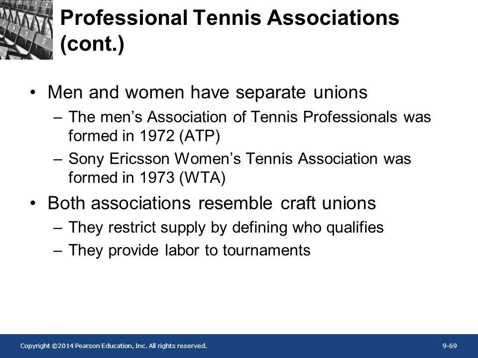 Professional Tennis Associations (cont.)