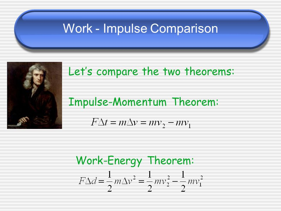 Work - Impulse Comparison