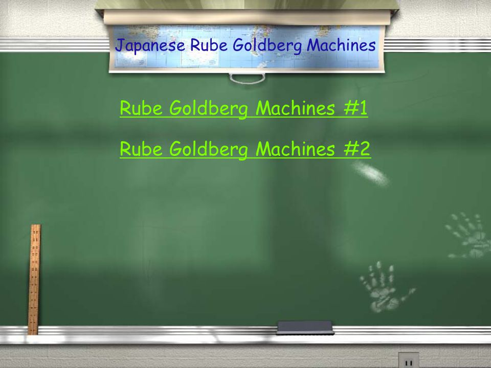 Japanese Rube Goldberg Machines
