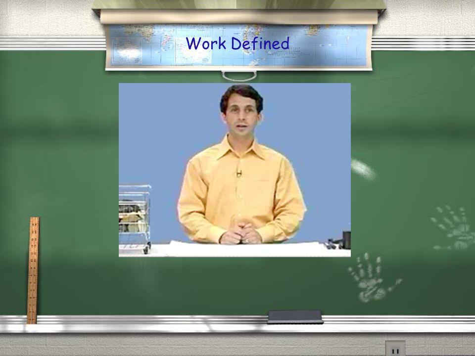 Work Defined