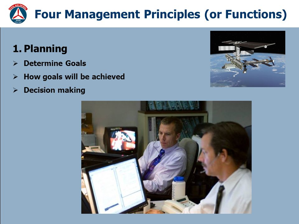 Four Management Principles (or Functions)