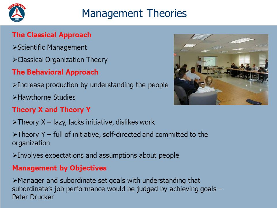 Management Theories The Classical Approach Scientific Management