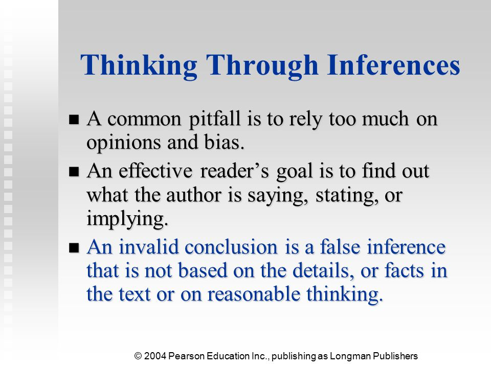Thinking Through Inferences