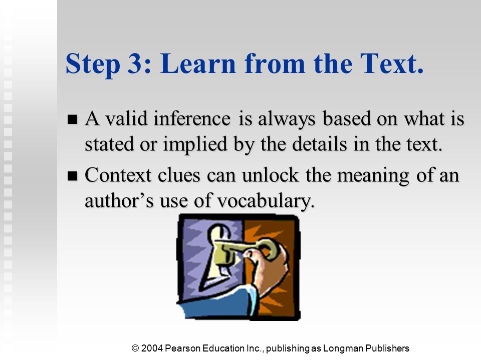 Step 3: Learn from the Text.