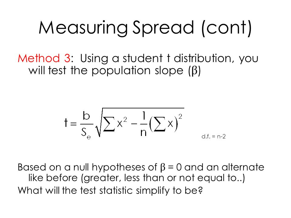 Measuring Spread (cont)