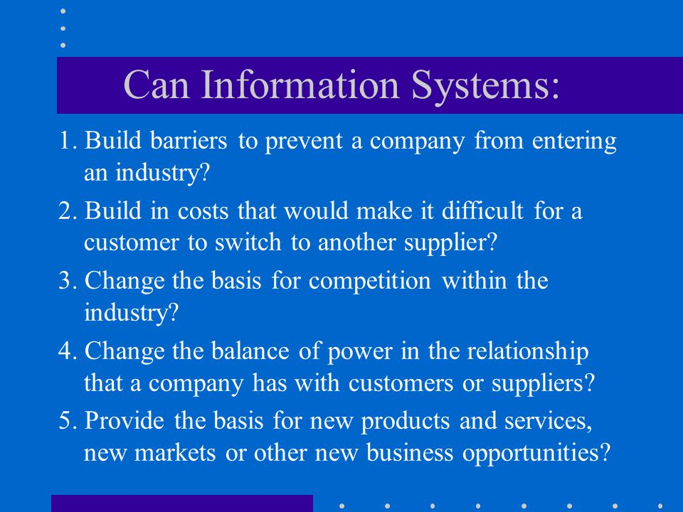 Can Information Systems: