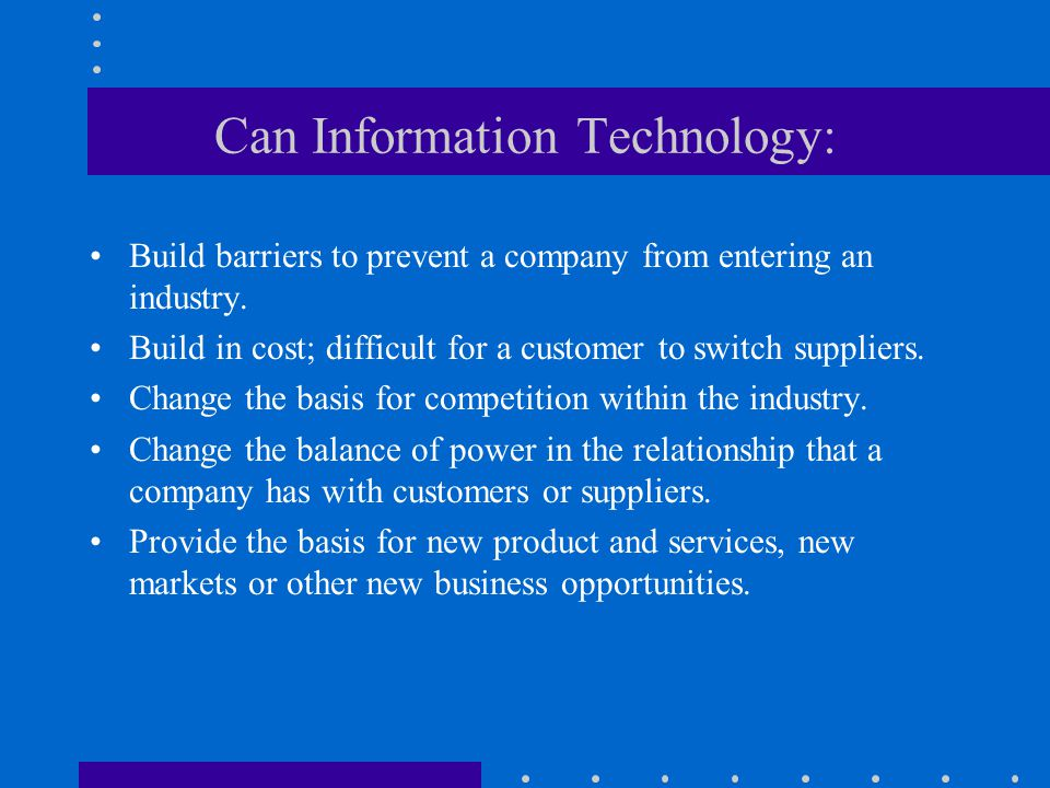 Can Information Technology: