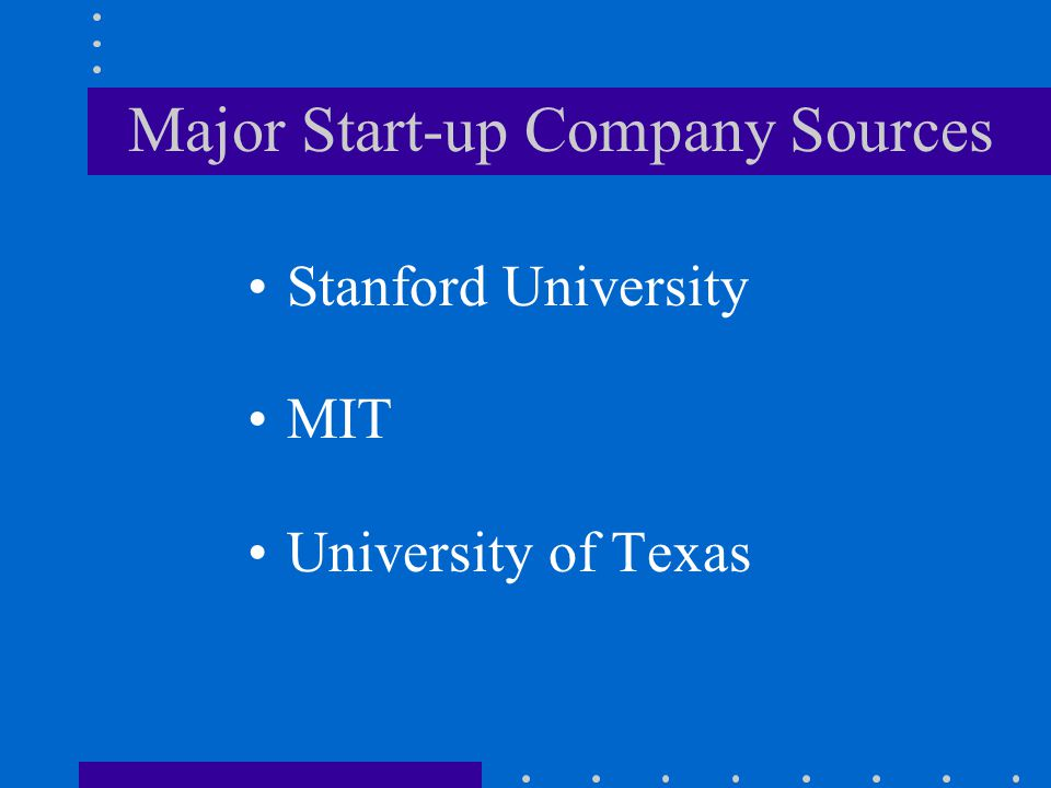 Major Start-up Company Sources