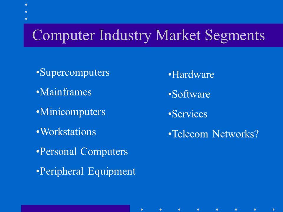 Computer Industry Market Segments