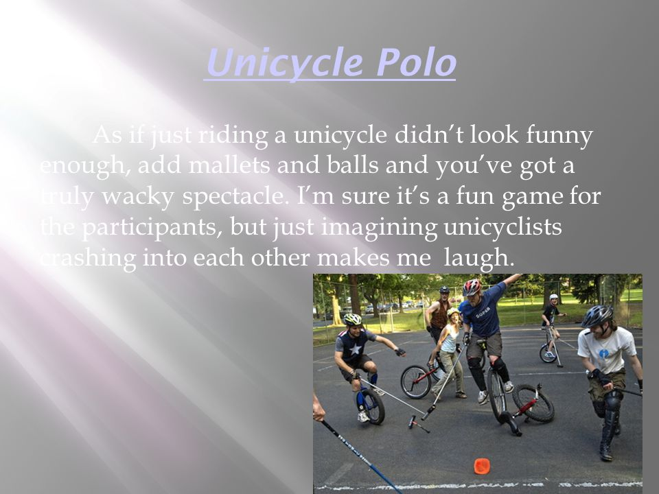 Unicycle Polo