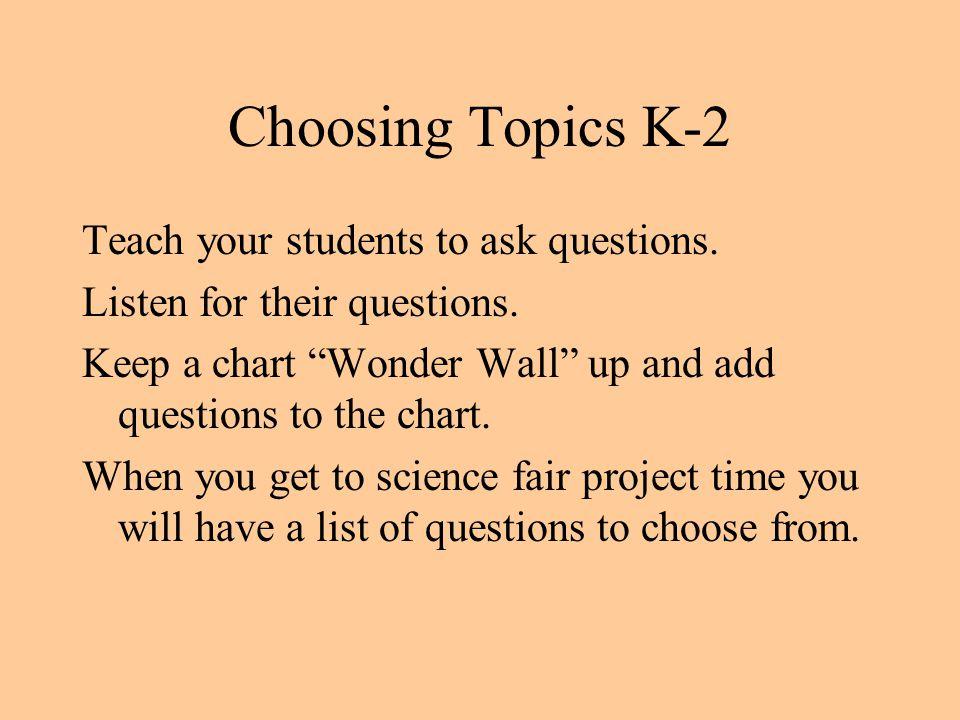 Choosing Topics K-2
