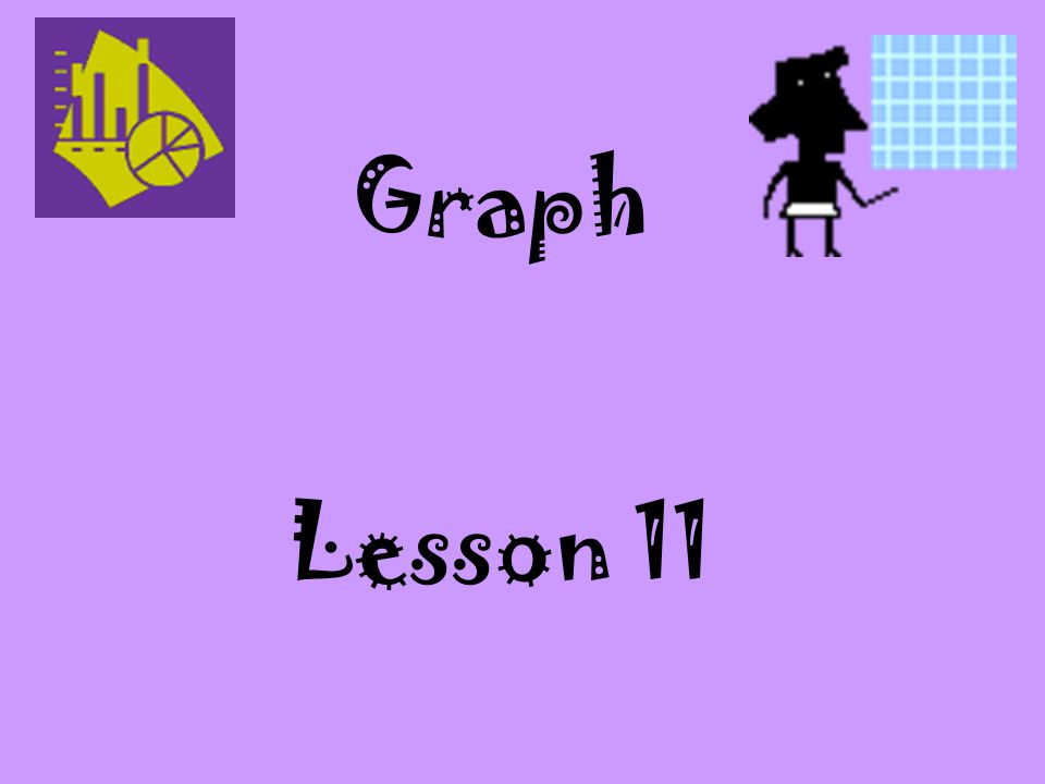 Graph Lesson 11. Graphs should be grade level appropriate and understood by the student.