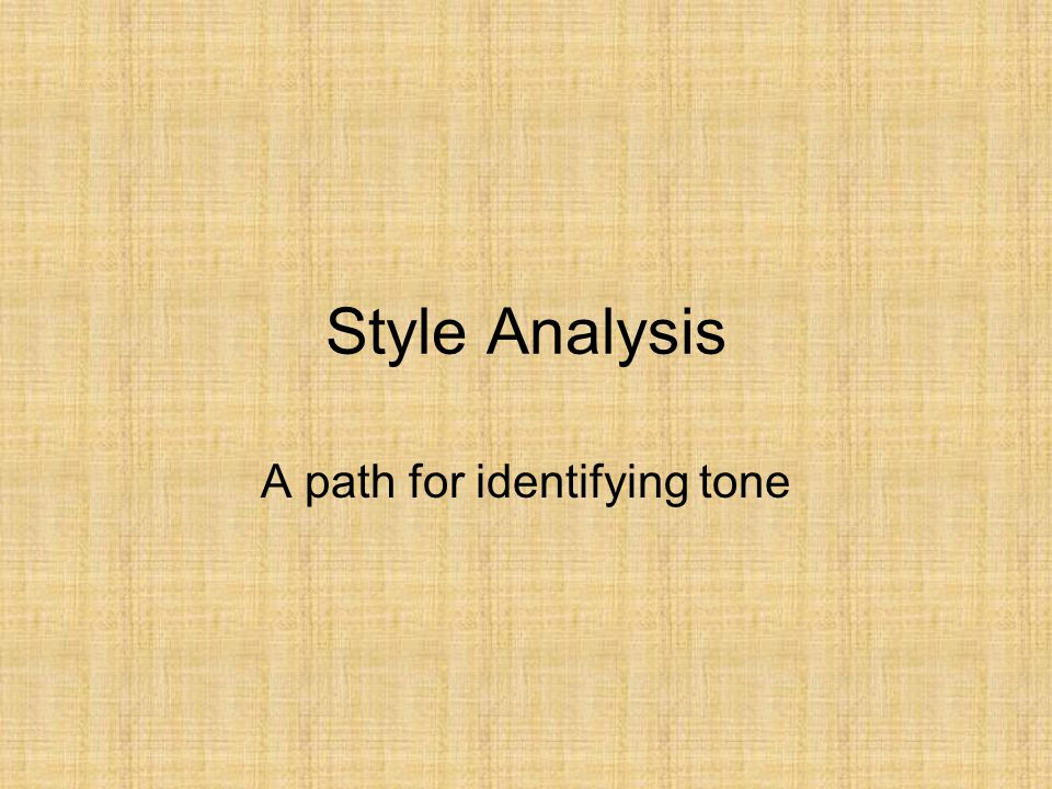 A path for identifying tone