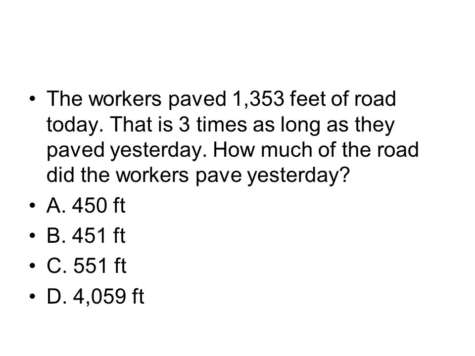 The workers paved 1,353 feet of road today