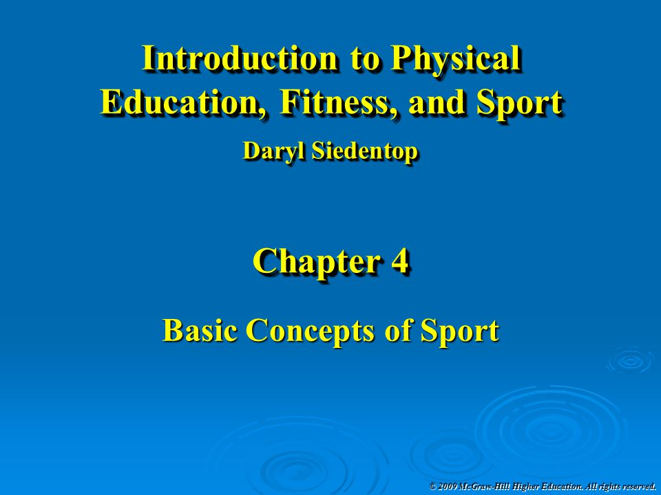 Basic Concepts of Sport