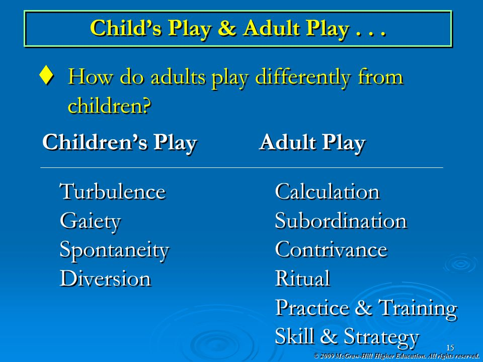 Child's Play & Adult Play . . .
