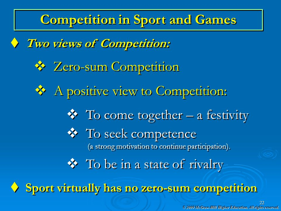Competition in Sport and Games