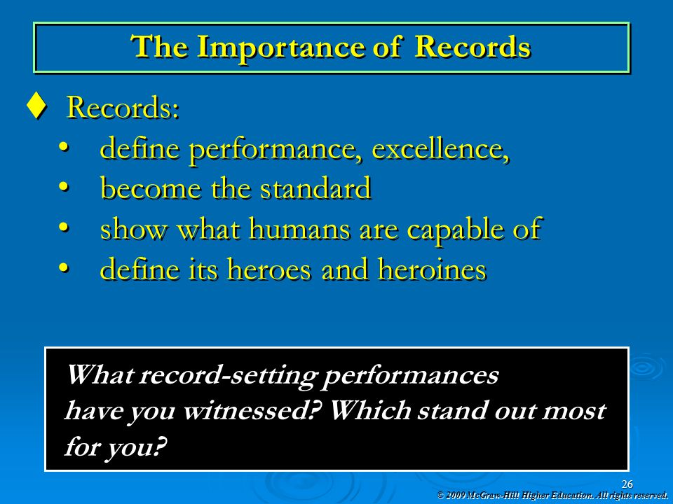 The Importance of Records