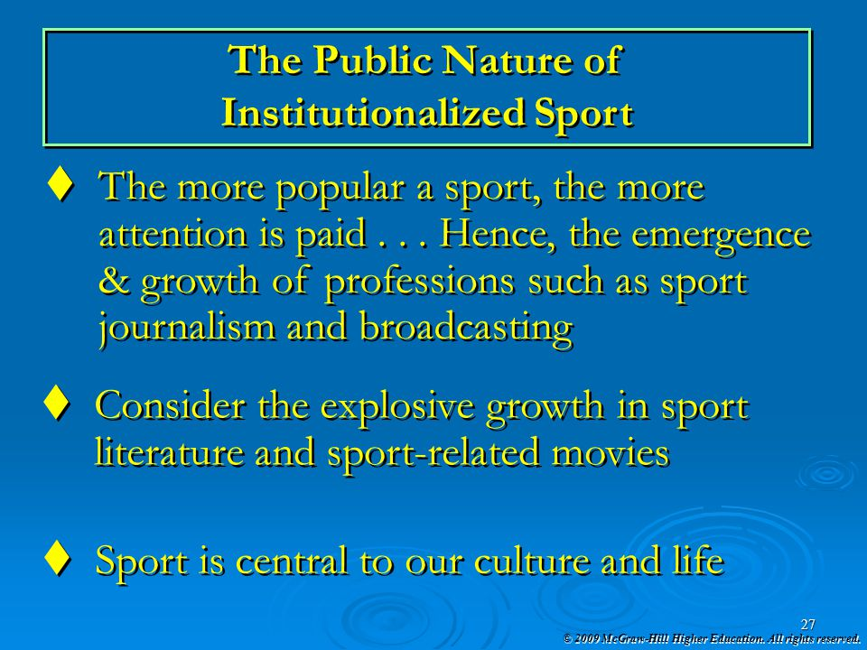 Institutionalized Sport
