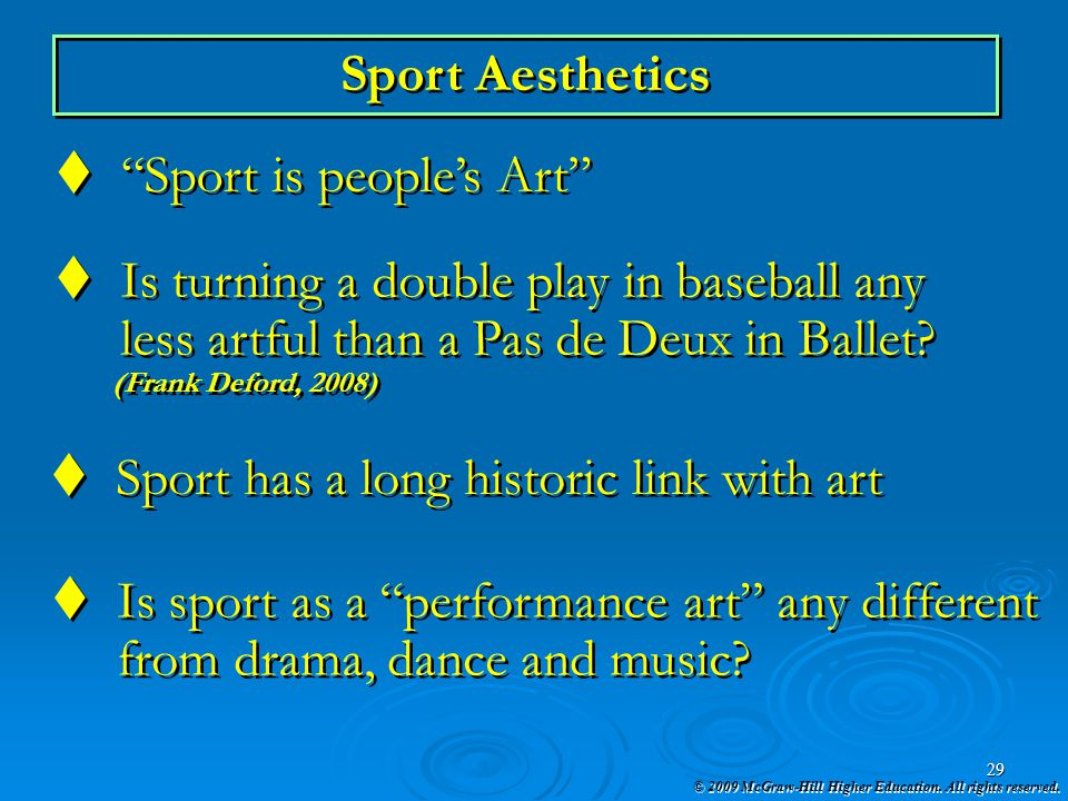 Sport is people's Art