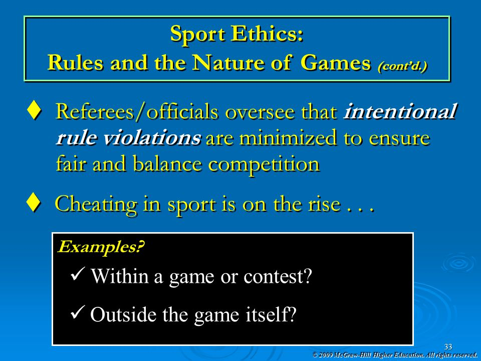 Rules and the Nature of Games (cont'd.)