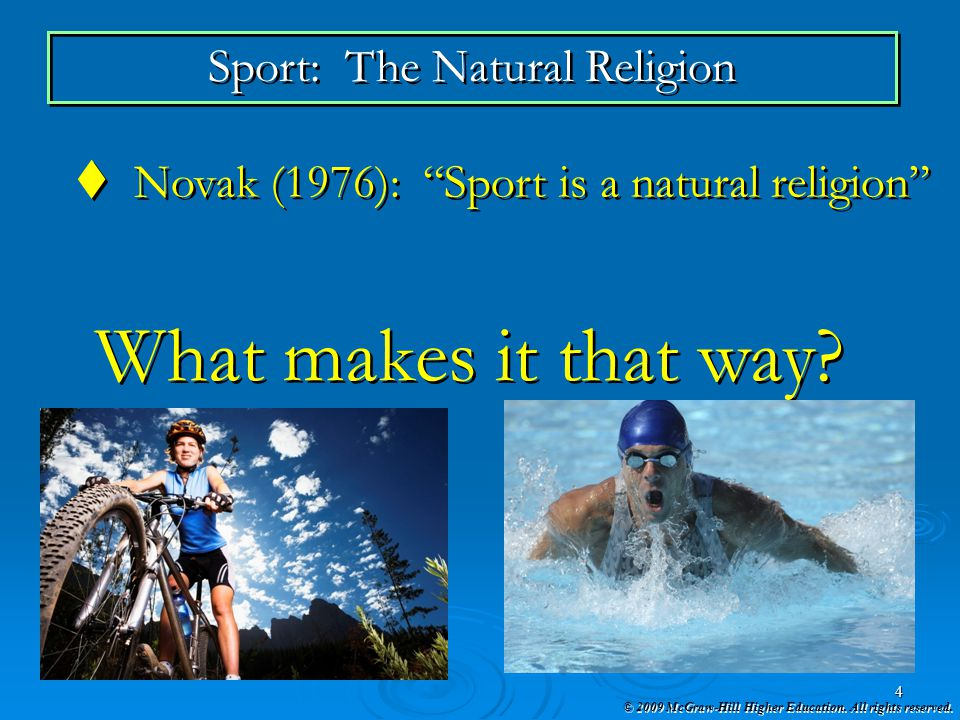 Sport: The Natural Religion