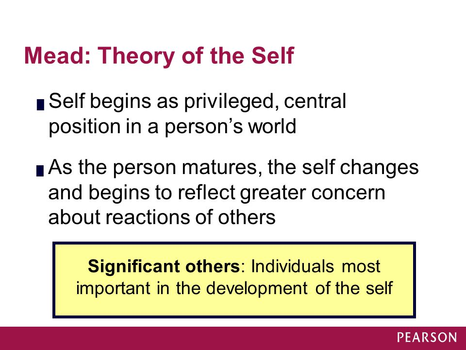 Mead: Theory of the Self