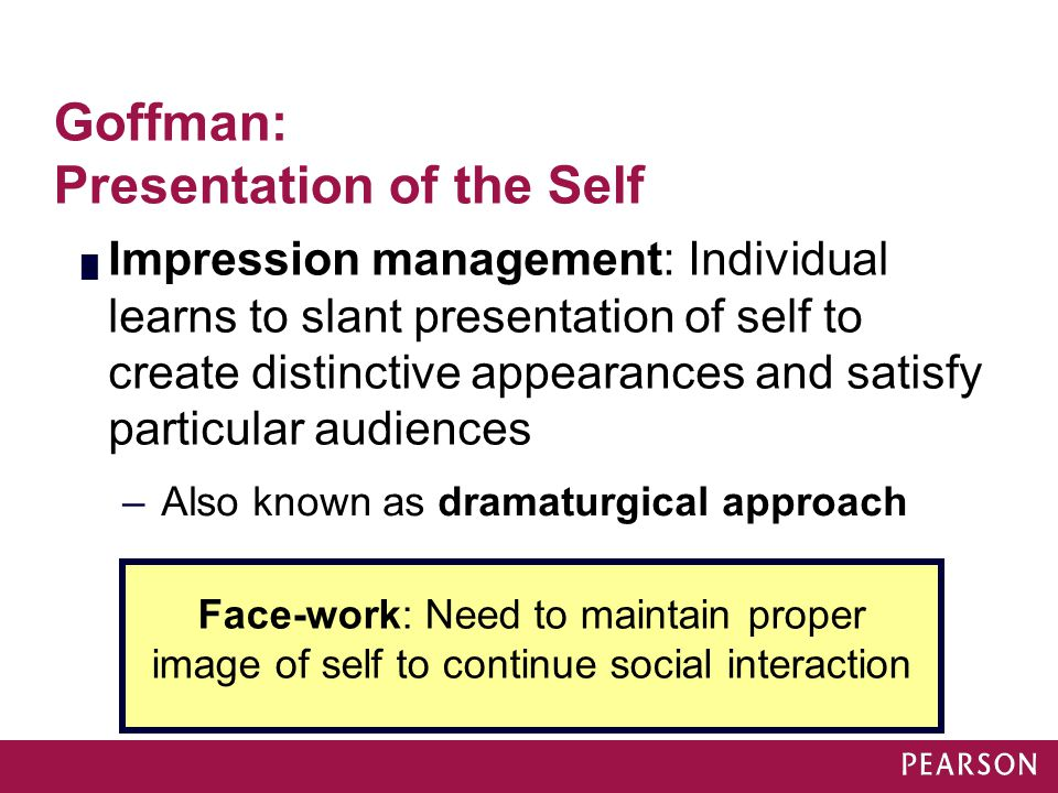 Goffman: Presentation of the Self
