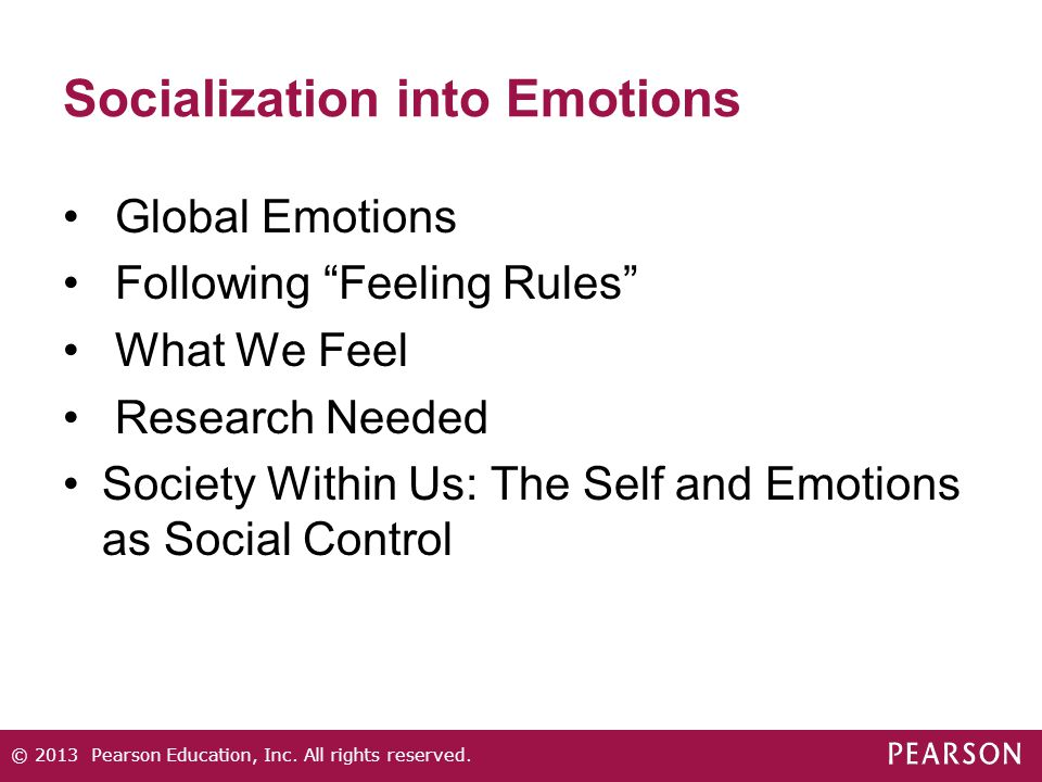 Socialization into Emotions