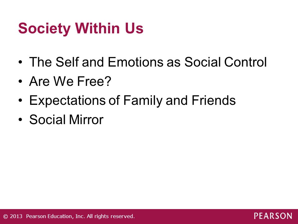 Society Within Us The Self and Emotions as Social Control Are We Free