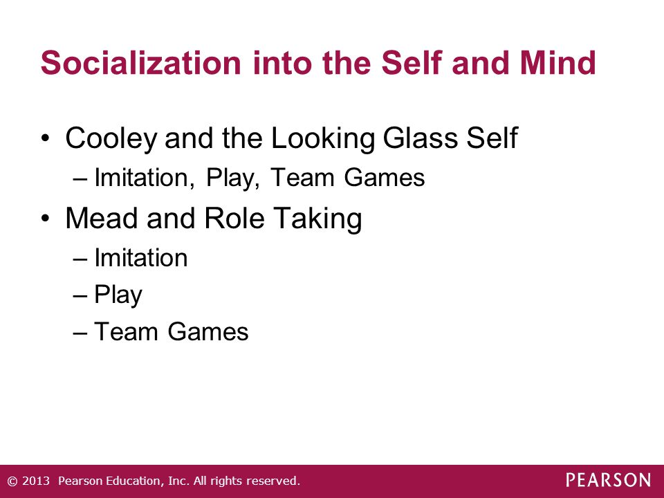 Socialization into the Self and Mind