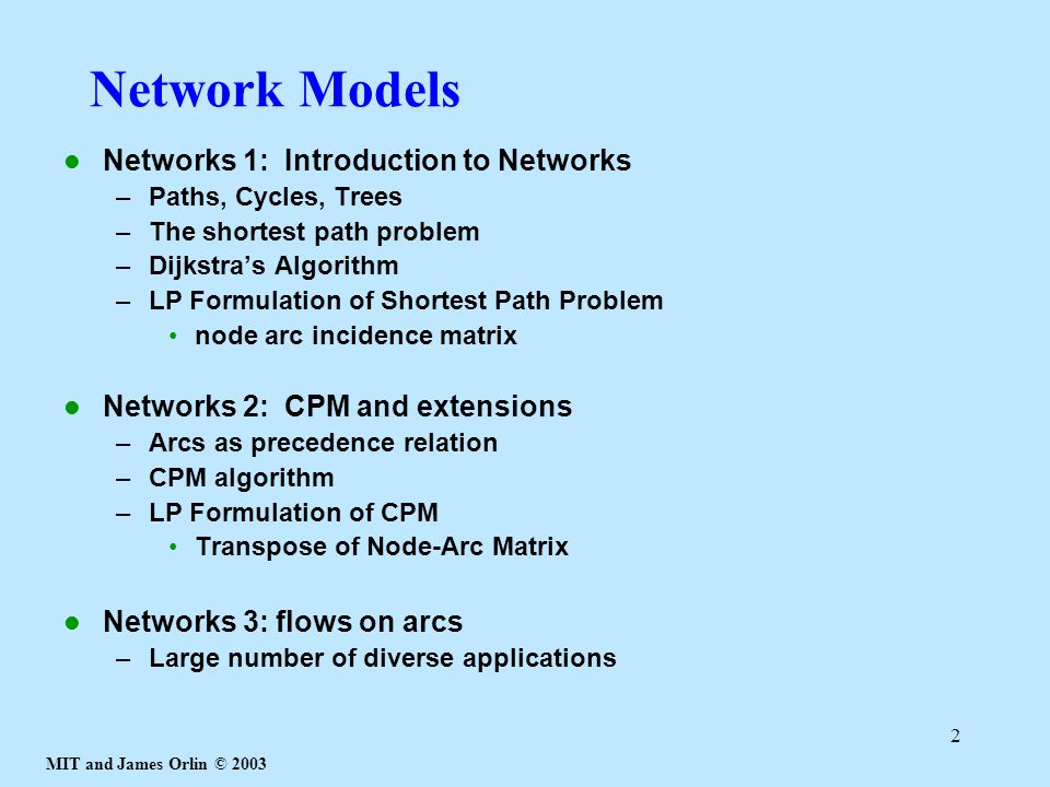 Network Models Networks 1: Introduction to Networks