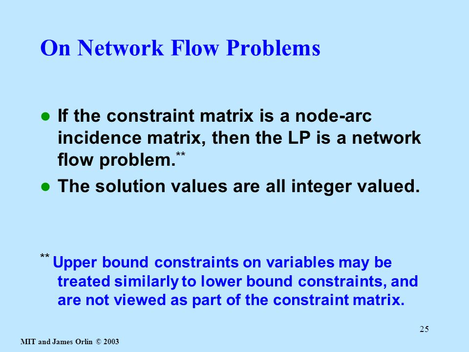 On Network Flow Problems
