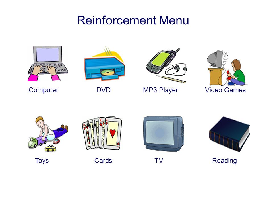 Reinforcement Menu Computer DVD MP3 Player Video Games