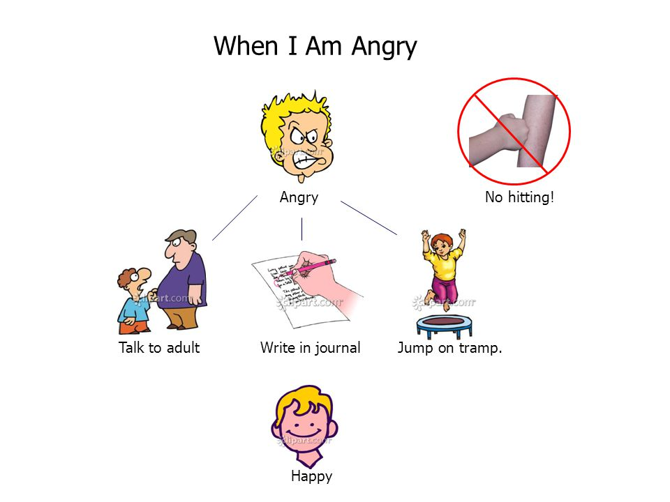 When I Am Angry Angry No hitting!