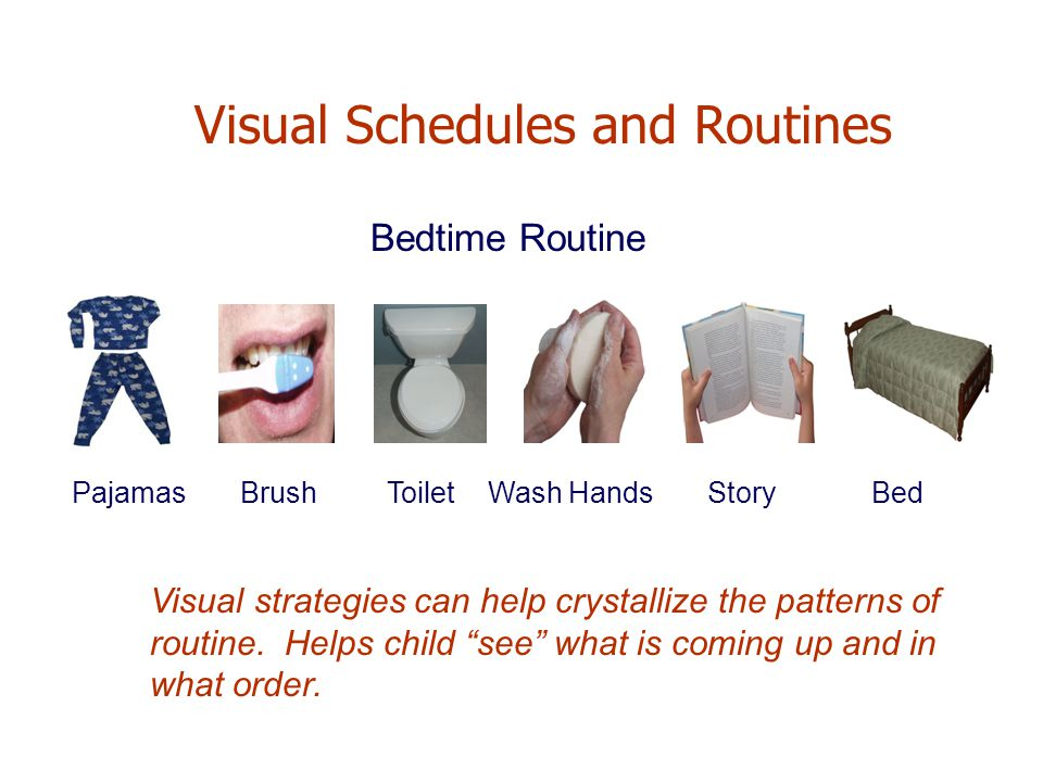 Visual Schedules and Routines