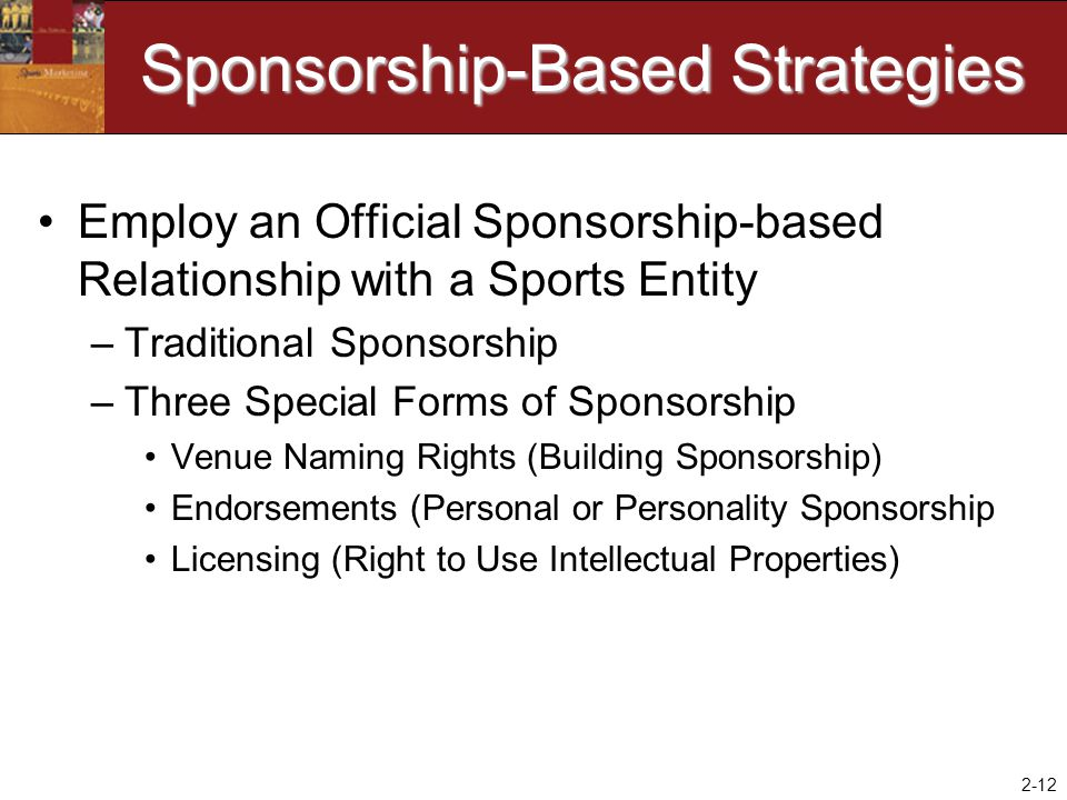 Sponsorship-Based Strategies