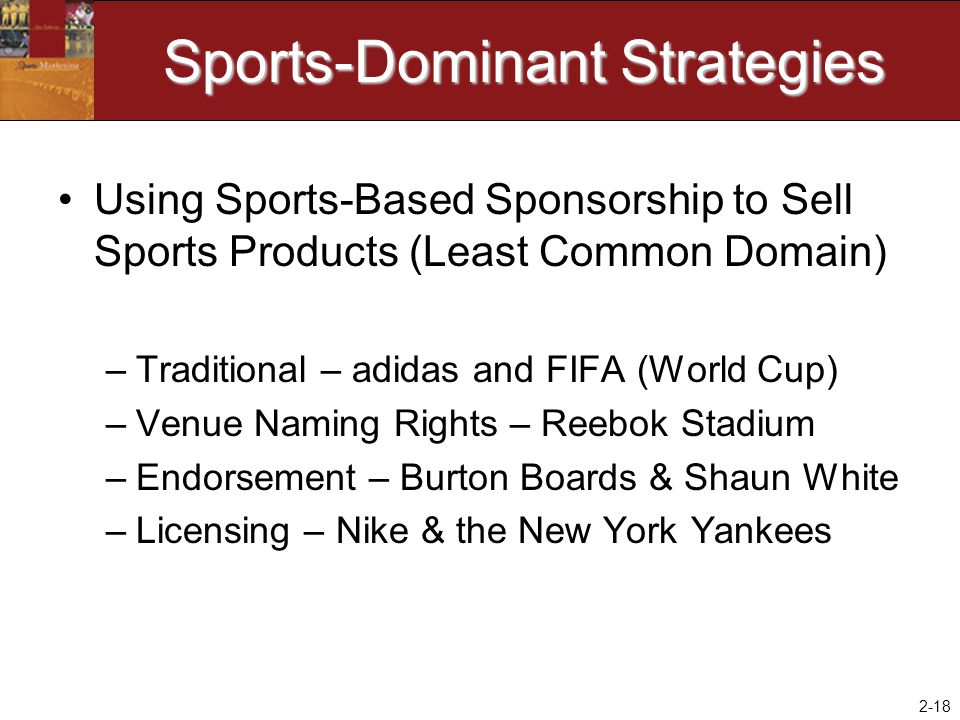 Sports-Dominant Strategies