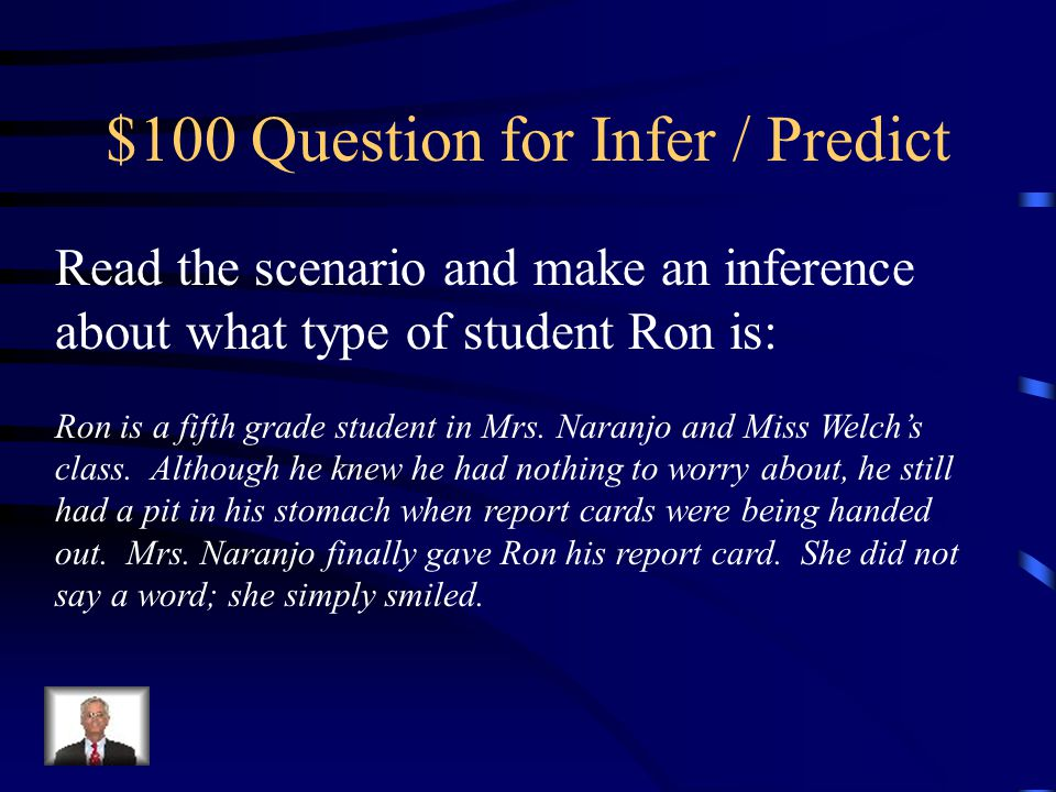 $100 Question for Infer / Predict