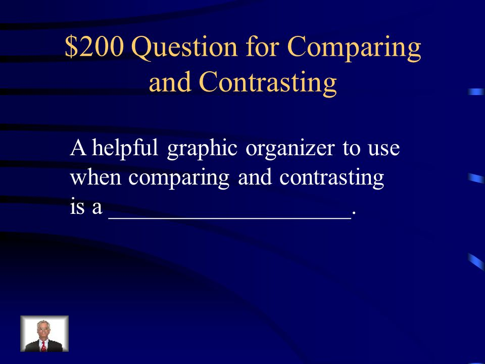 $200 Question for Comparing and Contrasting