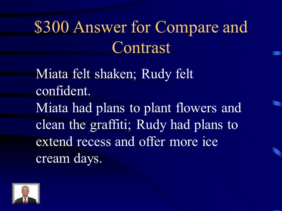 $300 Answer for Compare and Contrast