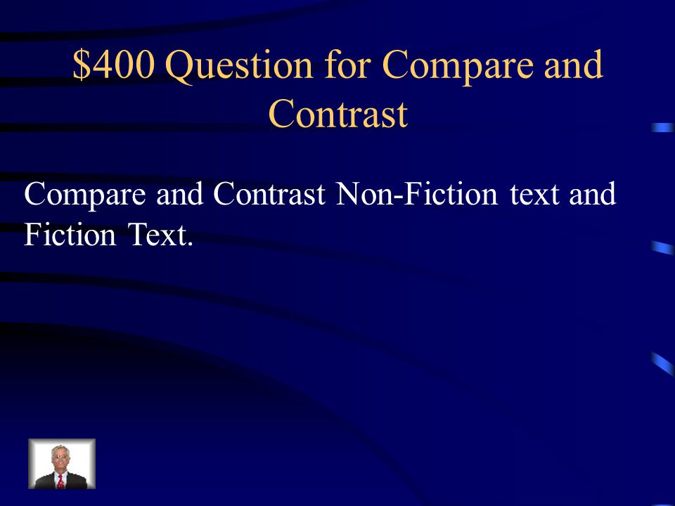 $400 Question for Compare and Contrast