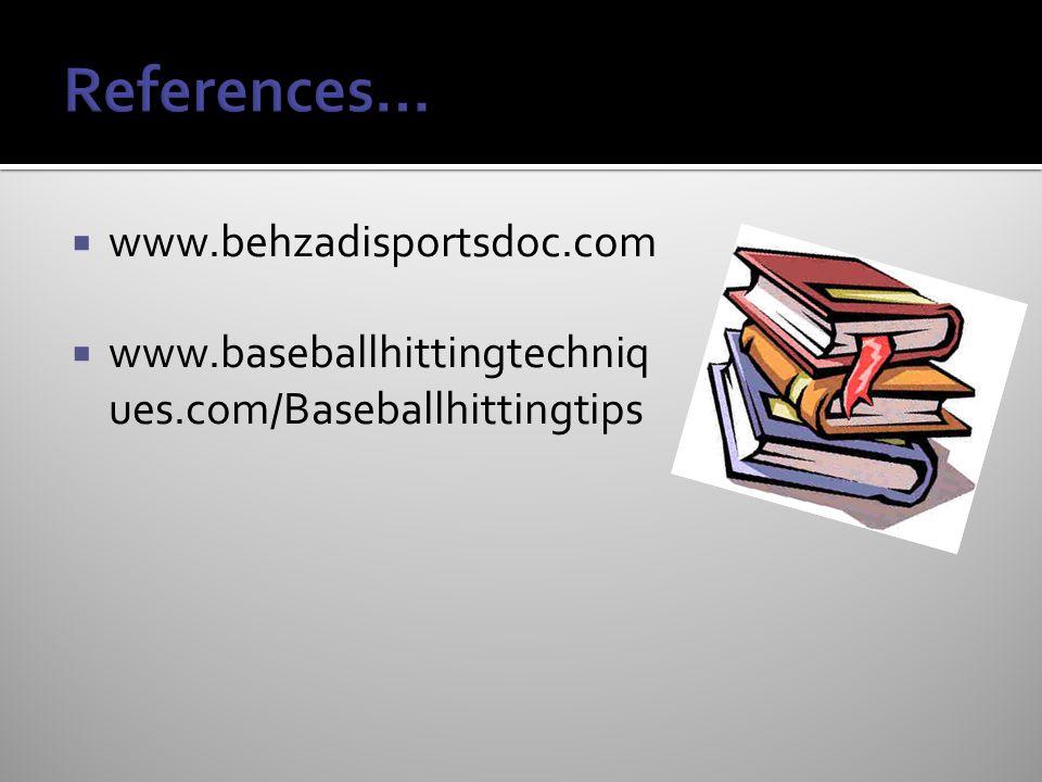 References… www.behzadisportsdoc.com