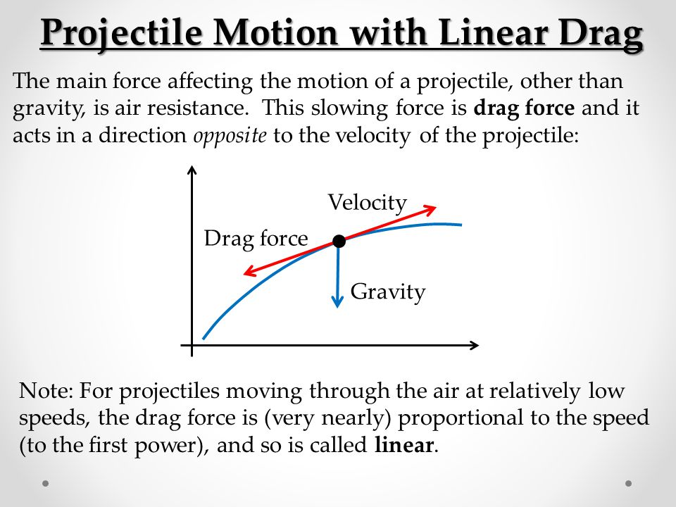 Projectile Motion with Linear Drag