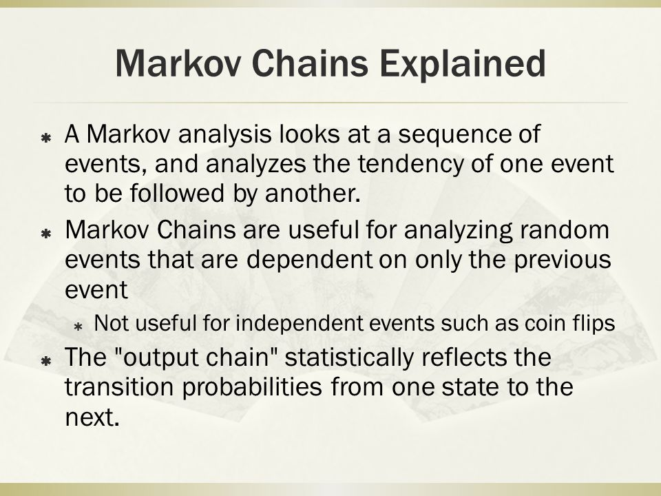 Markov Chains Explained