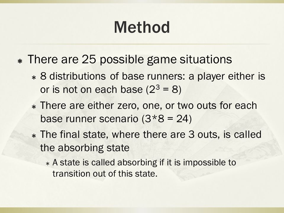 Method There are 25 possible game situations