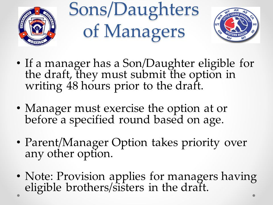 Sons/Daughters of Managers