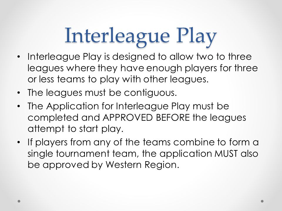 Interleague Play