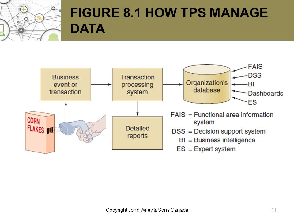 Figure 8.1 How TPS Manage Data