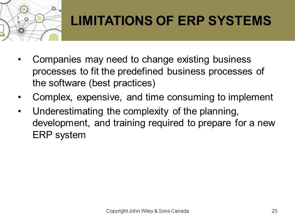 Limitations of ERP Systems